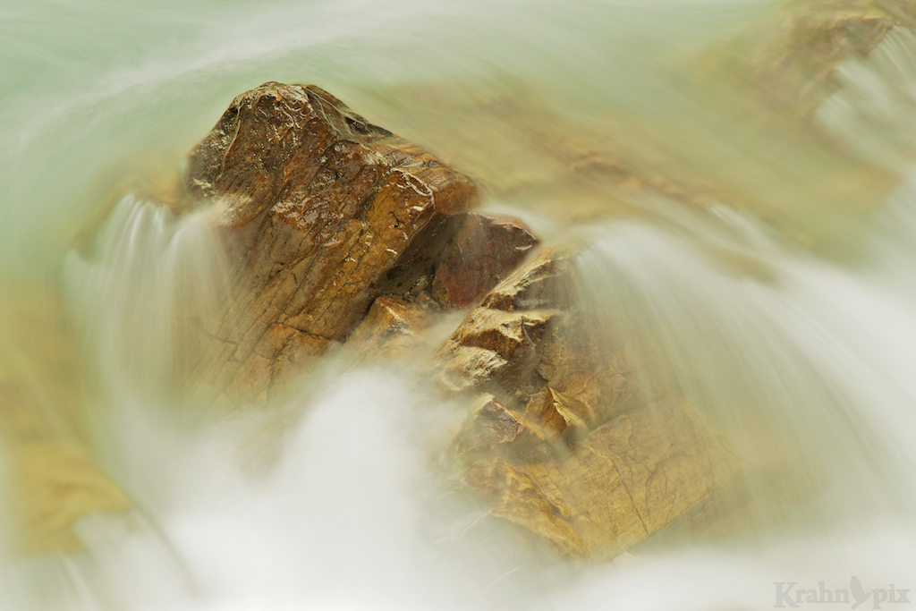 Rock, water, flowing, Robson River