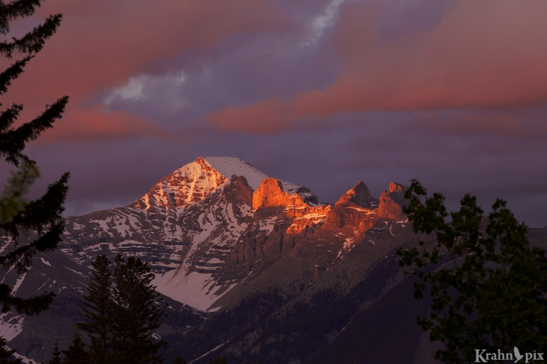 Rockies, mountain, sunset, _MG_2450